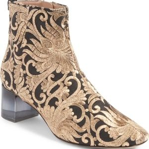 TORY BURCH Embroidered Ankle Boots